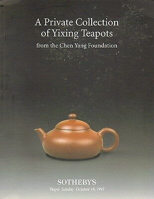 SOTHEBY'S Yixing Teapot from the Chen Yang Foundation Auction Catalog 1997