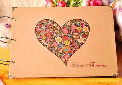 "DIY 27 x 19cm 30pages 3 Rings ""Love Forever"" Kraft Scrapbook Album DIY Decor"