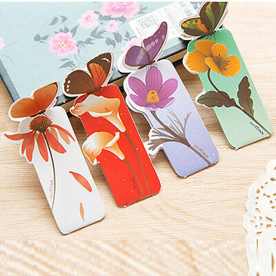 New Bookmarks 50pcs Paper Butterfly Shape Bookmark School Office Kid Gifts Prize