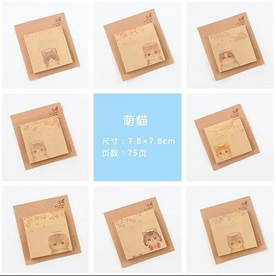 Kraft Paper 63 Pages Stick Memo Paper Note ~ Different Design
