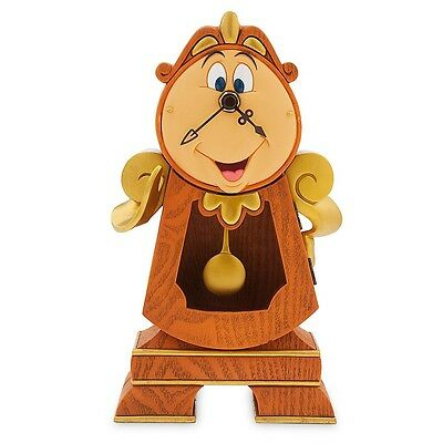 Disney Parks Beauty & The Beast Cogsworth Real Working Clock. Missing Magnet***