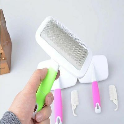 Pet Dog Cat Hair Brush Pin Fur Grooming Trimmer Comb Tool For Long Haired Dogs