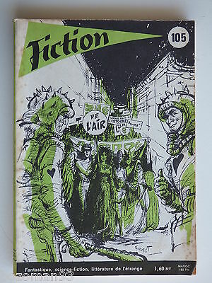 FICTION n° 105  AOUT 1962 COVER  J.C FOREST  ARTHUR C.CLARKE - JEAN RAY -CURVAL