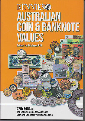 Australia catalogue RENNIKS COIN & BANKNOTE VALUES 27th edition hardcover
