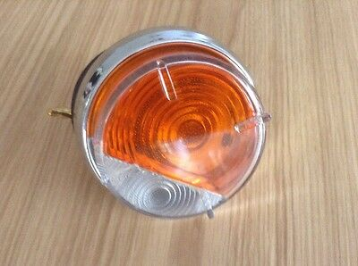 Brand New 2 X Morris Minor, MGA Lucas L632 Indicator Sidelight  Lens Amber Clear