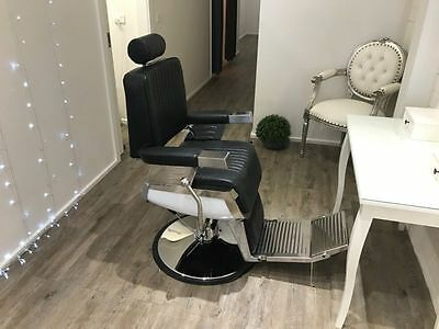 PU Leather Antique look Barber Chair