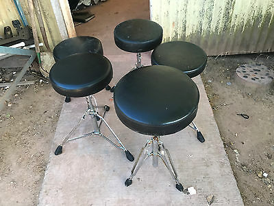 5 Drum Throne Lot - Yamaha Pdp Mix Sound Percussion and match