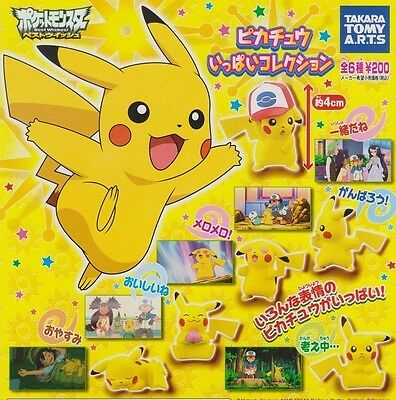 TOMY Pokemon BW Pikachu Full Collection 6 Figure Part 1 Gashapon Complete Set