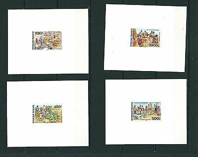 Togo 1981 Poste Aerienne Airmail Proofs Imperf Minisheets Epreuves ? Mh/mnh