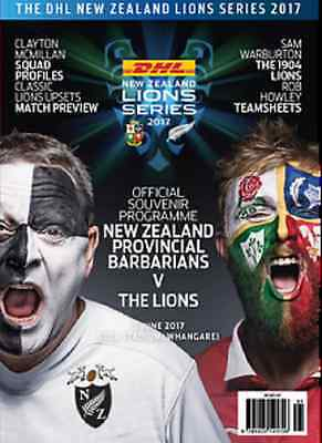 NEW ZEALAND PROVINCIAL BARBARIANS v BRITISH & IRISH LIONS 2017 PROGRAMME