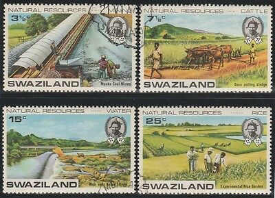 Swaziland Stamps 1973 Natural Resources SG 200-203 (Used CTO)