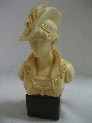 Vintage Alabaster Bust Of A Victorian Lady