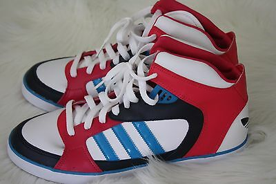 Adidas Men's High Top White Blue Pink Fashion Sneakers Shoes Size 11 US