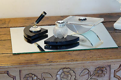 MONTBLANC  Creation Lalique Limited (4810) Edition Crystal Desk Set  - Perfect