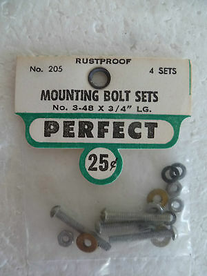 """Perfect Brand, Engine Bolt Sets 3/4"""" ,new In Sealed Pack,suit Control Line Plane"""