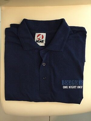 Bee Gees Barry Gibb Original One Night Only Polo T Shirt Vintage 1998 Large
