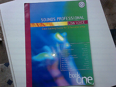 Sounds professional Low Voice Vocal song book with cd backing tracks FREE POST