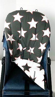 Custom Reversible Universal Stars Pushchair stroller seat liner for Bugaboo