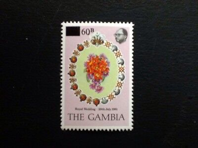 The Gambia, 1982 Royal Wedding Opted With 60B Surcharge, Mnh