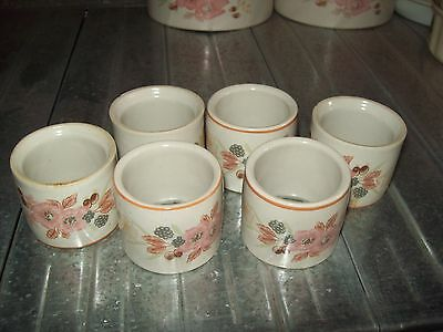 5 X Boots Hedge Rose Napkin Rings  - Excellent Condition Plus 1 Free