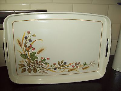 """M&s Harvest Serving Tray - 1"""" Lip All Around. 16"""" X 10.5"""" With Handles Rare Exc"""