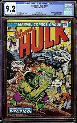 Incredible Hulk # 180 CGC 9.2 White (Marvel, 1974) 1st appearance Wolverine