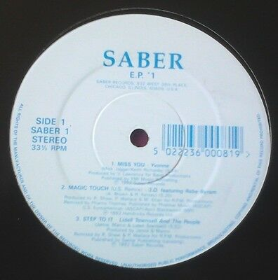 "Saber Records Ep 1 - Various 6 Track 12"" Chicago House -Lidell Townsell Hear!"