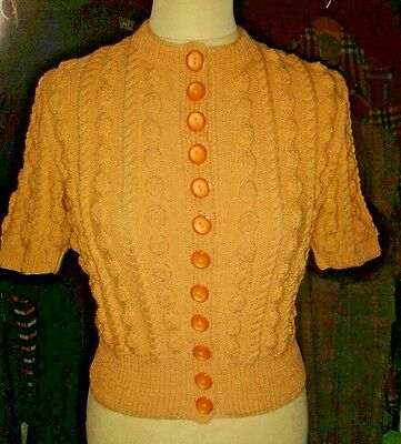 Handknitted 1950S Bobble Cardigan Jumper Made With 50S Wool For Your 50S Dress
