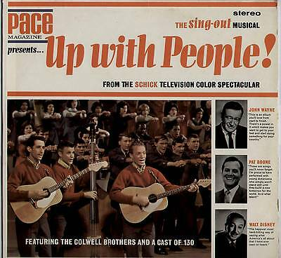 """Colwell Brothers ~ Sing-Out Musical """"up With People"""" ~ 1965 Us Lp ~ Pace #1101"""