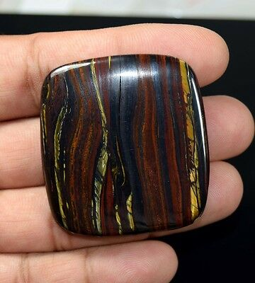 Attractive  120.25 Cts 100 % Natural Multi Iron Tiger Cushion Cab For Pendant