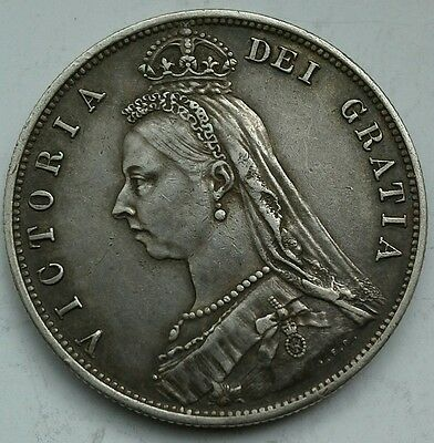 HIGH GRADE 1887 QUEEN VICTORIA HALFCROWN. (Ref:020)