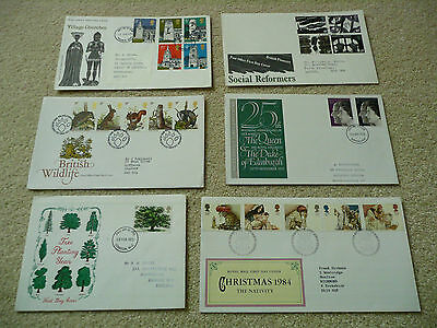 6 x GB First Day Covers (Lot 7)
