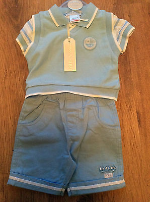 Dream Baby Boys Traditional Three Piece Summer Suit  Blue 0-9 Months