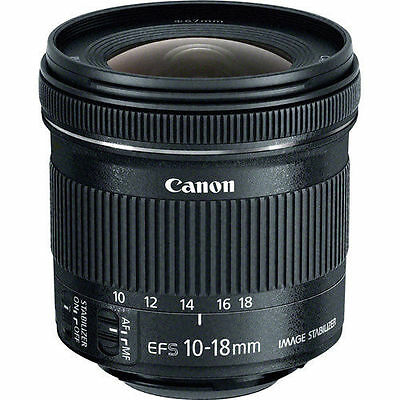 Canon EF-S 10-18mm f/4.5-5.6 IS STM Lens with Bundled Items - Used