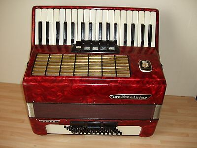 piano accordion weltmeister  Stella 60 bass buttons. in good condition