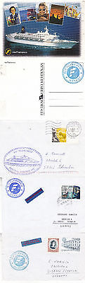 Bahamas Cruise Ship Ms Flamenco 3 Ships Cached Covers & A Colour Postcard