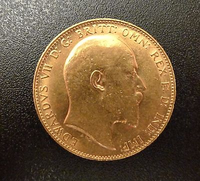 1909 KING EDWARD VII FULL GOLD SOVEREIGN & in a capsule & certificate
