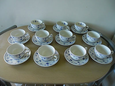 Set of 11 x Teacups & Saucers Masons/Furnivals DENMARK in Very Good Condition