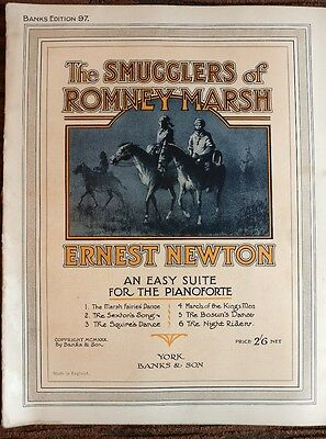 smugglers of romney marsh vintage piano sheet music 1930s