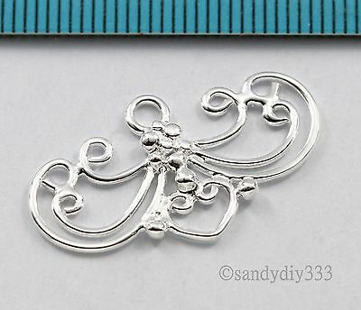 1x BRIGHT STERLING SILVER NECKLACE CHANDELIER CONNECTOR BEAD 26.8mm #2781