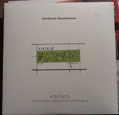 "Karlheinz Stockhausen ‎""Kontakte"" LP Ltd Numbered pierre henry david tudor nww"