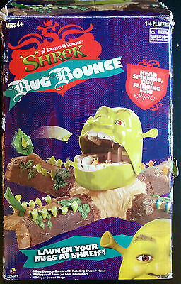 Shrek Bug Bounce Board Game Dreamworks Mr. Mouth Vivid 2006 Child with box
