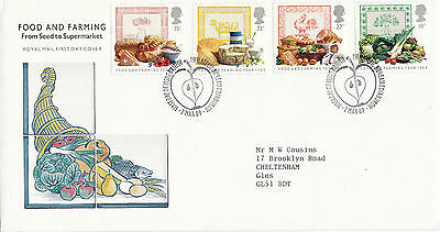 7 MARCH 1989 FOOD AND FARMING ROYAL MAIL FIRST DAY COVER BUREAU SHS (x)