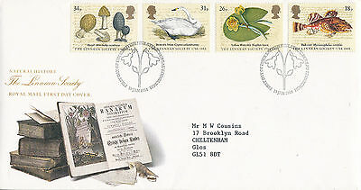 19 JANUARY 1988 LINNEAN SOCIETY ROYAL MAIL FIRST DAY COVER BUREAU SHS (x)