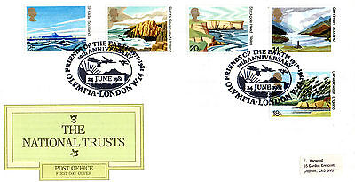 24 June 1981 National Trusts Post Office First Day Cover Friends Of The Earth