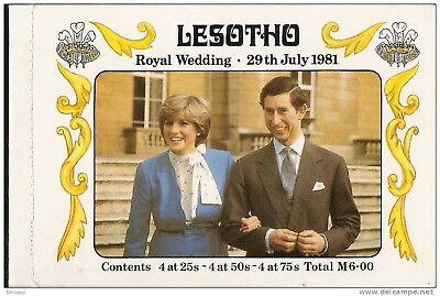 Lesotho 1981 Royal Wedding M6 Booklet Unexploded Mnh