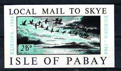 ISLE OF PABAY 1964 EUROPA 2/6d IMPERFORATE MINIATURE SHEET MNH