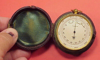 Antique Vintage Pocket Barometer Aneroid Compensated I. Brandli Basel 45mm