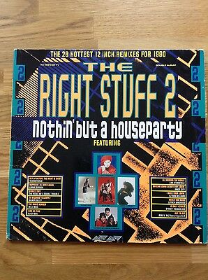 Various – The Right Stuff 2 - Nothin' But A Houseparty 1990 2 x Vinyl LPs