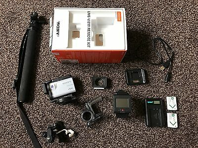Sony FDR-X3000R 4K Waterproof Action Cam With Wi-Fi & GPS Live-View And Extras